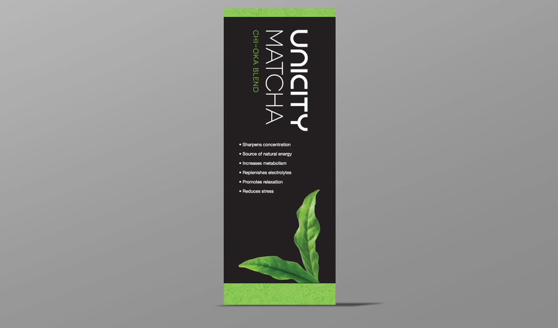 Unicity Matcha Vertical Banner - Amber Media Solutions