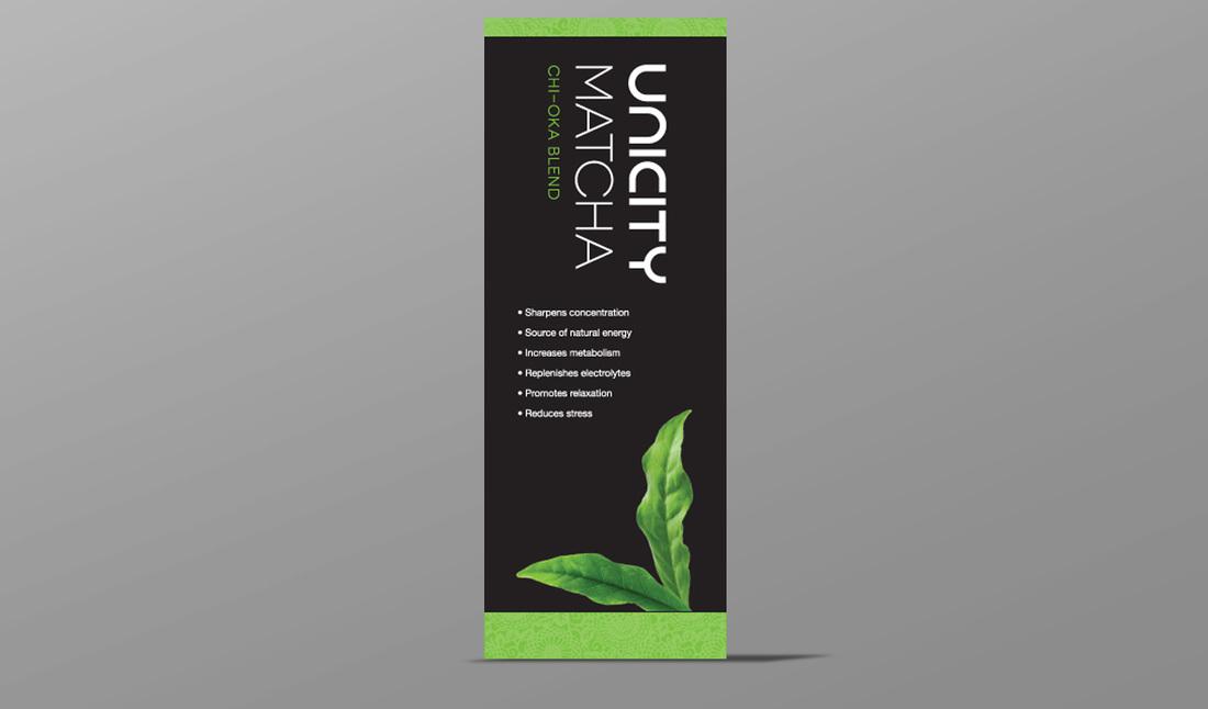 Unicity Matcha Vertical Banner - Amber Media Solutions